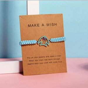 Handmade Blue Fish Make a Wish Bracelet